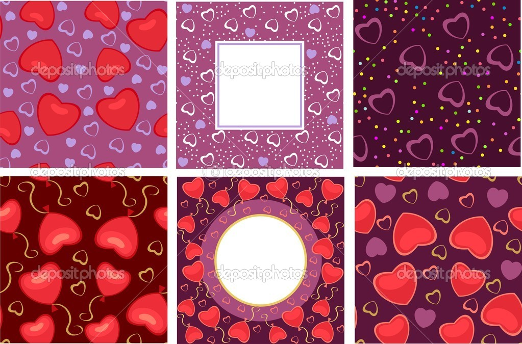Background with hearts on the day of Valentine — Stock Vector #4657975