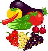 Warzywa i owoce porzeczki — Wektor stockowy