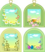 Easter tags — Stockvector