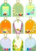 Easter tags — Stock Vector
