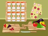 Cucina retrò — Vettoriale Stock
