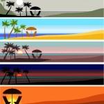 Beach banner — Stock Vector