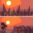 Summer night city — Image vectorielle