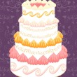 Royalty-Free Stock Vector Image: Wedding cake