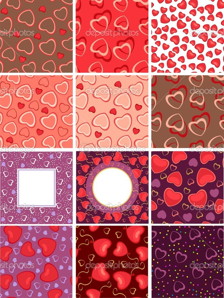 Background with hearts on the day of Valentine — Stock Vector #5367467