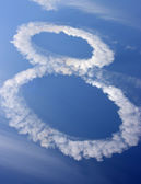 Clouds in shape of figure eight — Stock Photo