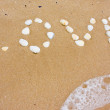 Love in sand — Foto Stock