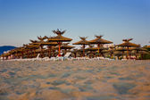 Spiaggia di sabbia bianca vuota — Foto Stock