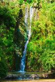 Waterfall in the botanical garden at Balchik, — Stock Photo