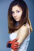 Shot of a sporty young woman. — Stockfoto