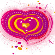 Stock Vector: Pink heart for Valentine