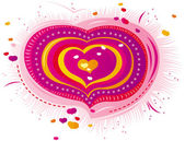 Pink heart for Valentine — Stock Vector