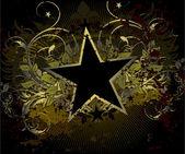 Military stile star background — Stock Vector