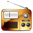 Old FM radio icon — Stock Vector