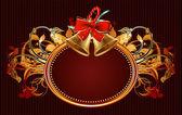 Sierlijke frame met kerst bells — Stockvector