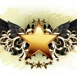 Star with ornate elements - Imagen vectorial