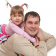 Joyfyl father and daughter — Stock Photo