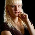 Blondie woman portrait — Stock Photo #4141034