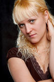 Blondie woman closeup portrait — Stock Photo