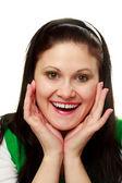 Mujer sorprendida — Foto de Stock