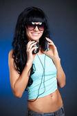 Woman portrait with eyelasses — Stock Photo