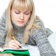 Stock Photo: Woman writing