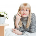 Женщина, разговор по телефону — Стоковое фото