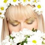 Closeup closed woman eyes — Stock Photo #4415282
