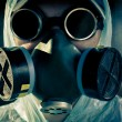 Man portrait in respirator - 