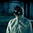 Stock Photo: Mportrait in respirator
