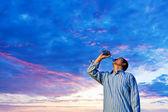 Man drinking pure water — Stock Photo