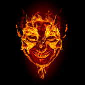 Fire devil face — Stock Photo
