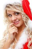 Seductive santa helper — Stock Photo