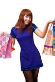 Ginger woman shopping — Stock Photo