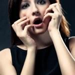 Scared woman portrait — Stock Photo