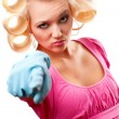Housewife portrait — Stock Photo