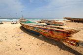 Embarcaciones y playa — Foto de Stock