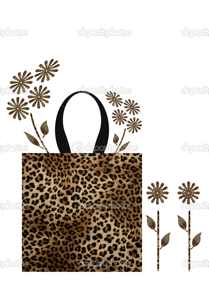Bag with inside flowers — Stock Photo #5178510