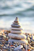 Pyramid from stones — Stock Photo