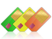 SIM card for a mobile telephone — Stock Photo