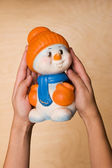 Toy snow man — Stock Photo