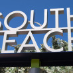 South Beach Sign — Stock Photo #4143367