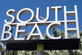 South Beach Sign — Stock Photo