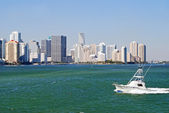 Sport Fishing Boat on Biscayne Bay — Stock Photo
