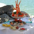 Seafood Buffet for Two — Stockfoto
