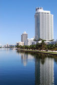 Miami Beach Luxury Condos and Hotels — Stock Photo