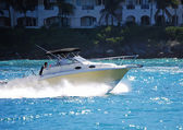 Sports Fishing Boat on Government Cut in Miami Florida — Stock Photo