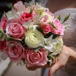 Foto Stock: Bride with wedding bouquet