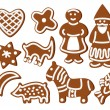 Stock Vector: Chrismas cookies
