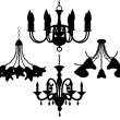 Royalty-Free Stock Imagen vectorial: Chandelier set